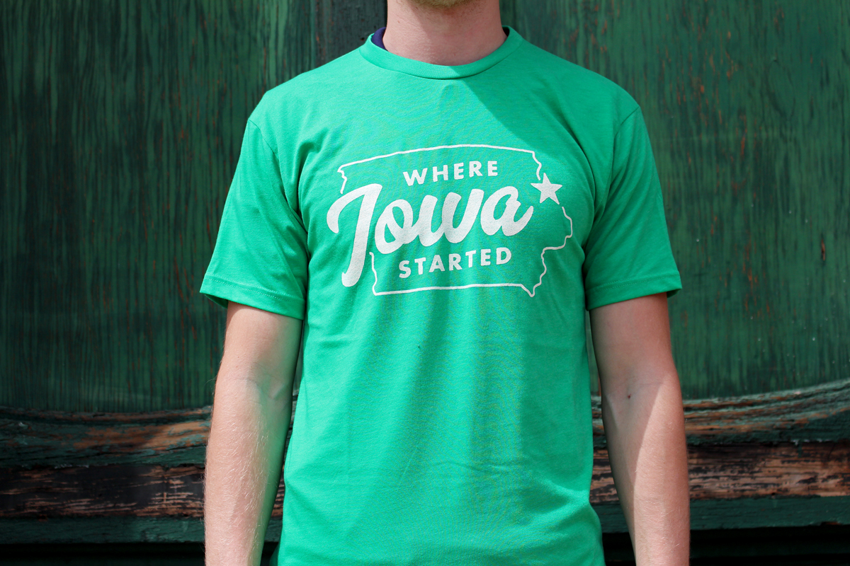 Green Where Iowa Started Shirt