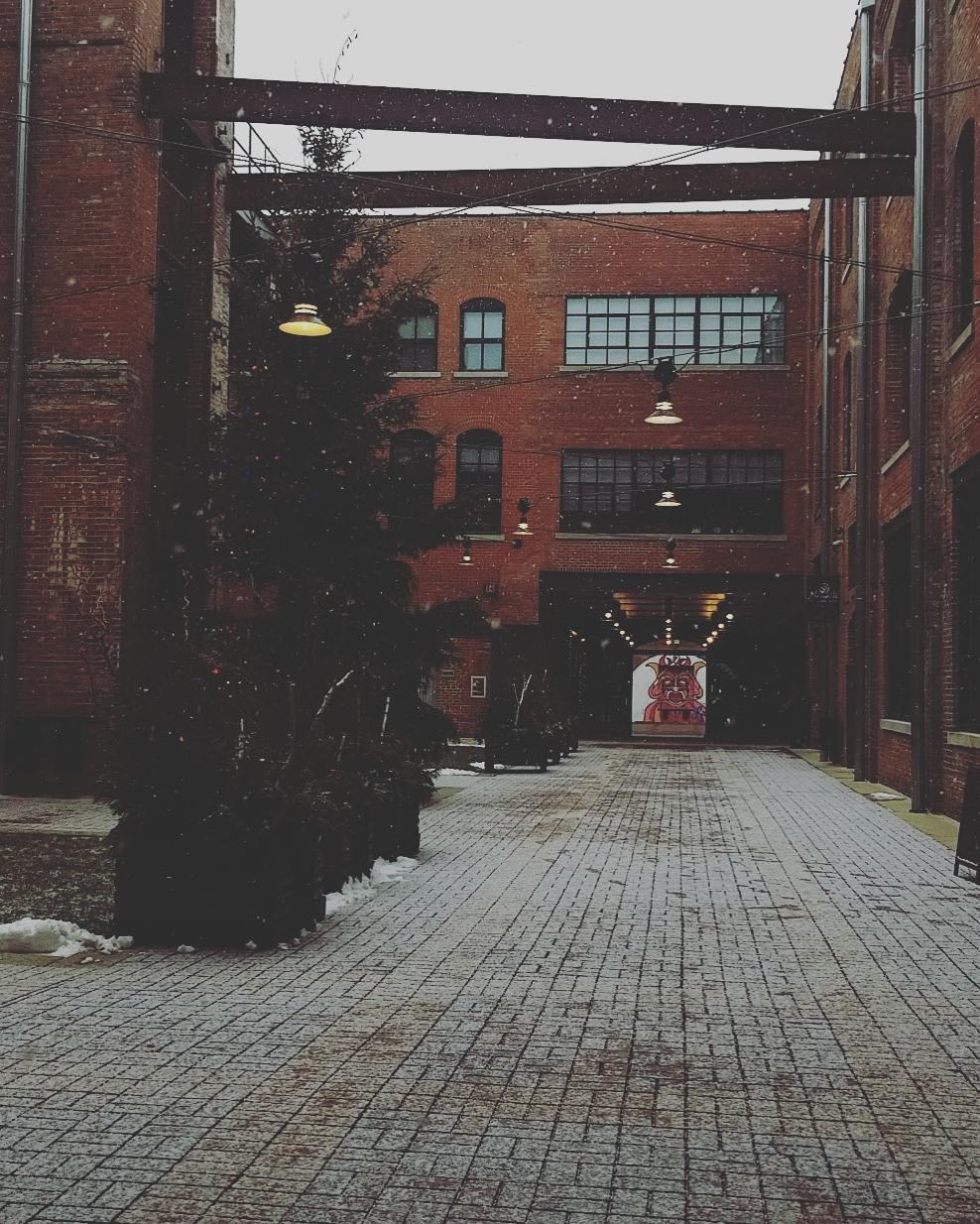 millwork district dubuque winter