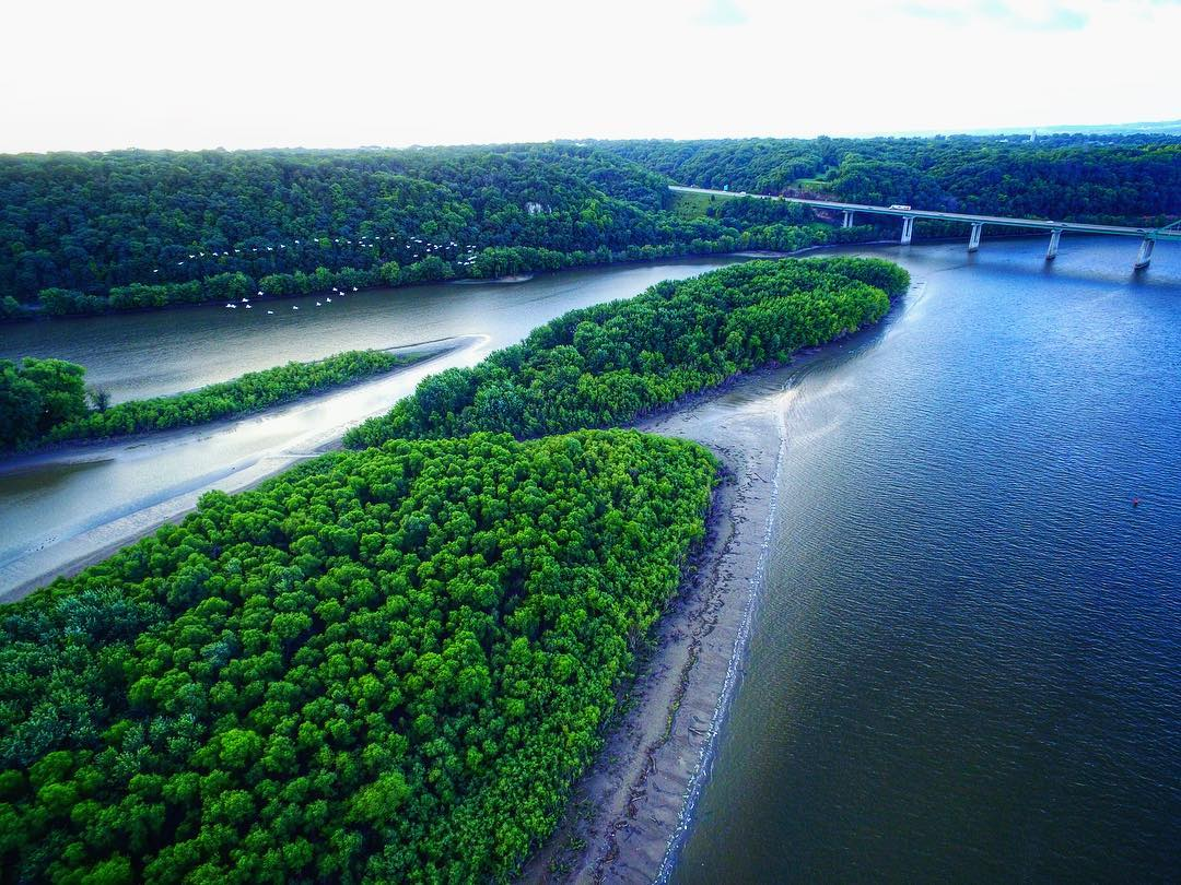 Mississippi River Near Dubuque Iowa