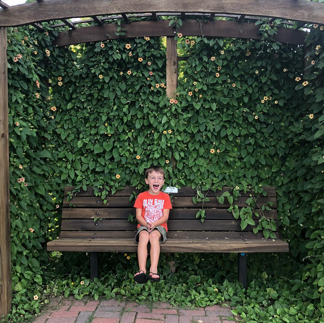 boy laughing arboretum dubuque