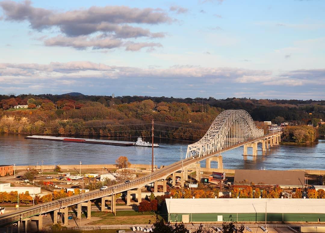 Skyline Julien Dubuque Bridge